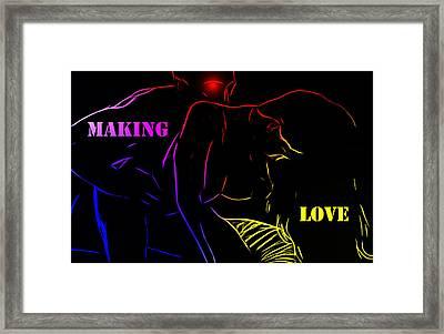 Making Love Framed Print by Steve K