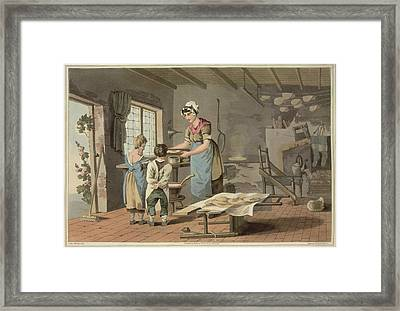 Making Oat Cakes Framed Print by British Library