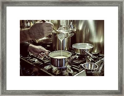 Making Sauce Framed Print by Patricia Hofmeester