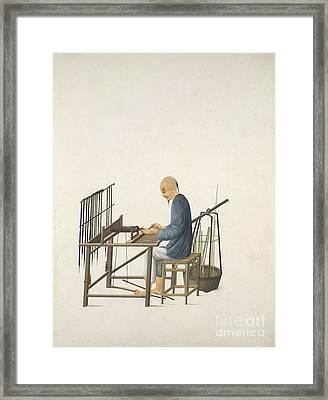 Making Smoking Pipes, 19th-century China Framed Print by British Library