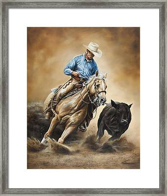 Making The Cut Framed Print by Kim Lockman