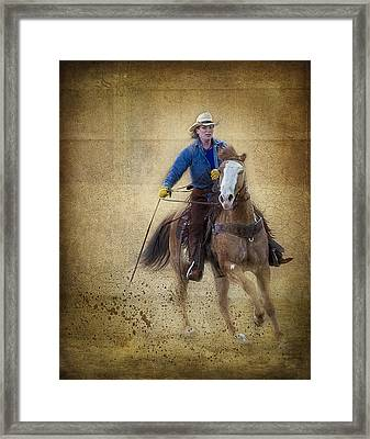Making The Turn Framed Print by Susan Candelario