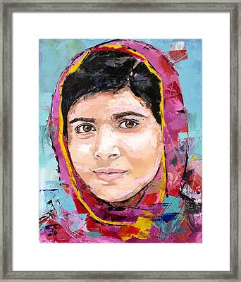 Malala Yousafzai Framed Print by Richard Day