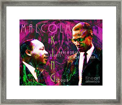 Malcolm And The King 20140205m68 With Text Framed Print by Wingsdomain Art and Photography