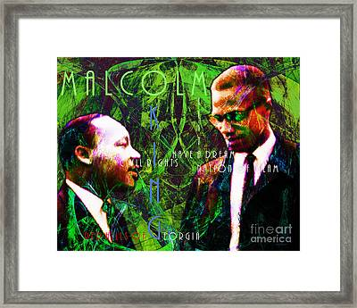 Malcolm And The King 20140205p68 With Text Framed Print by Wingsdomain Art and Photography