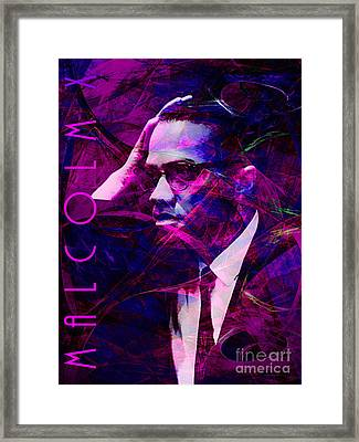 Malcolm X 20140105m88 With Text Framed Print by Wingsdomain Art and Photography