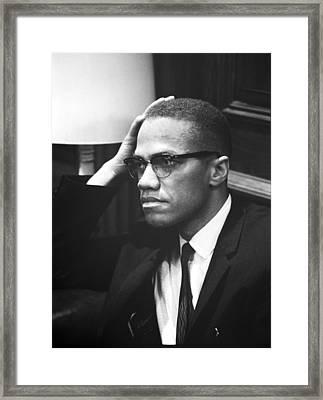 Malcolm X Framed Print by Marion S. Trikosko