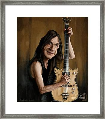 Malcolm Young Framed Print by Andre Koekemoer