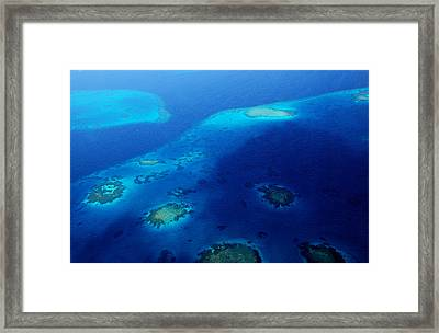 Maldivian Reefs. Aerial Journey Over Maldivian Archipelago Framed Print by Jenny Rainbow