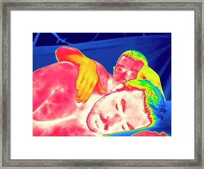 Male Couple In Bed Framed Print by Thierry Berrod, Mona Lisa Production