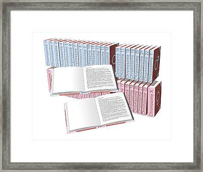 Male Genome Framed Print by Henning Dalhoff