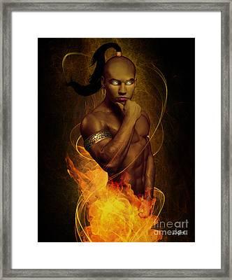 Male Ifrit Djinn Framed Print by Creative Sunny