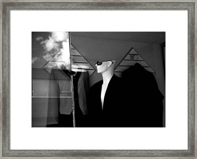 Male Mannequin With Sunglasses Framed Print by Randall Nyhof