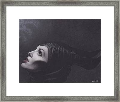 Maleficent Framed Print by Brittni DeWeese