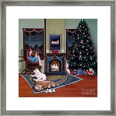 Mallory Christmas Framed Print by John Lyes
