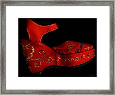 Mama Danced Framed Print by Lin Haring