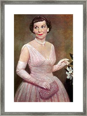 Mamie Eisenhower, First Lady Framed Print by Science Source