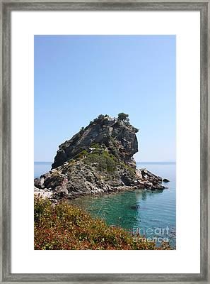 Mamma Mia Church Skopelos Framed Print by Yvonne Ayoub