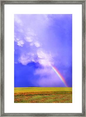 Mammatus Rainbow Of New Mexico Framed Print by Jason Politte