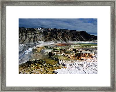 Mammoth Hot Springs Framed Print by Robert Woodward