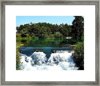 Mammoth Springs Framed Print by Cindy Croal