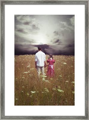 Man And Girl Framed Print by Joana Kruse