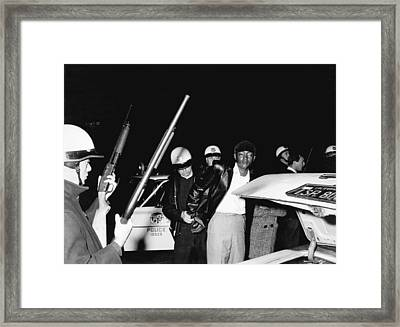 Man Arrested By La Police Framed Print by Underwood Archives