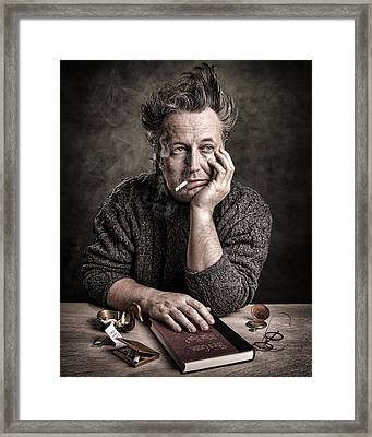 Man At The Table - Lonely Hearts Club Framed Print by Gary Heller