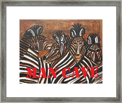 Man Cave Framed Print by Diane Pape