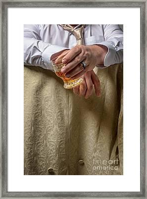 Man Drinking Spirits Framed Print by Amanda And Christopher Elwell