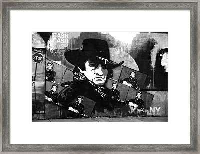 Man In Black Framed Print by Dan Sproul