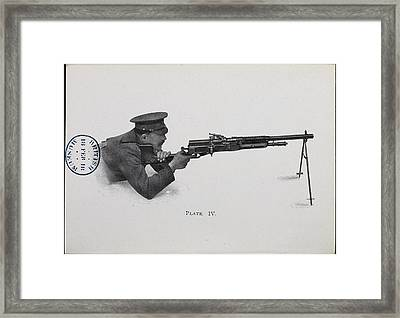 Man In Firing Position Framed Print by British Library