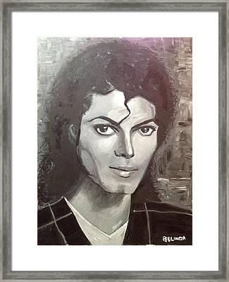 Man In The Mirror Framed Print by Belinda Low