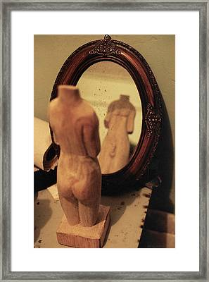 Man In The Mirror Framed Print by David  Cardona