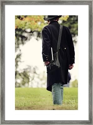 Man In Union Uniform Framed Print by Stephanie Frey