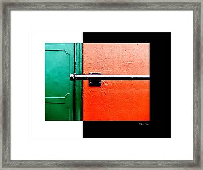 Man Made Abstract 3 Framed Print by Xoanxo Cespon
