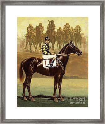 Man O' War  Framed Print by Don  Langeneckert