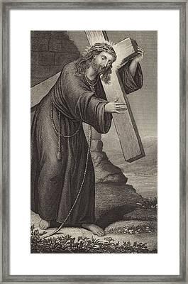 Man Of Sorrow Framed Print by English School