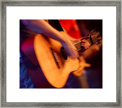 Man Playing Guitar Framed Print by Con Tanasiuk