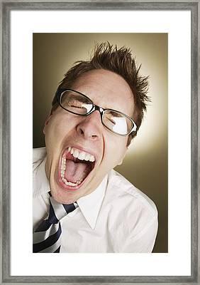 Man Screaming Framed Print by Don Hammond