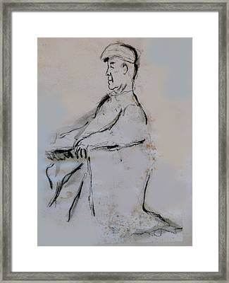 Man With A Cap Framed Print by James Gallagher