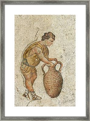 Man With A Wine Vessel Framed Print by David Parker