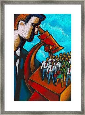 Management Framed Print by Leon Zernitsky