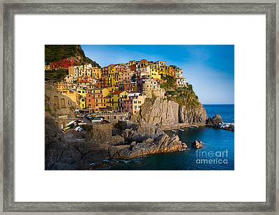 Manarola Framed Print by Inge Johnsson