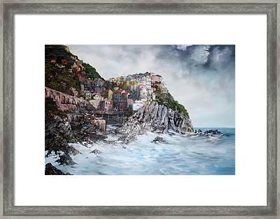 Manarola Italy Framed Print by Jean Walker