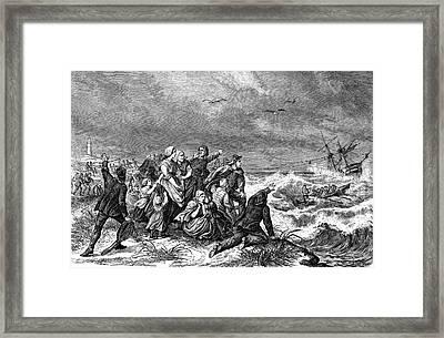 Manby Mortar Wreck Rescue Framed Print by Bildagentur-online/tschanz