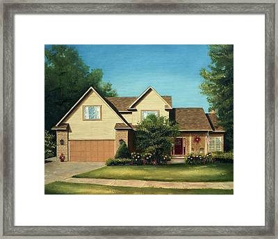 Manchester Home 2011 Framed Print by Cecilia Brendel