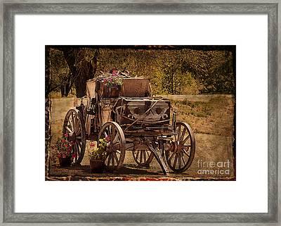 Mancos Flower Wagon Framed Print by Janice Rae Pariza