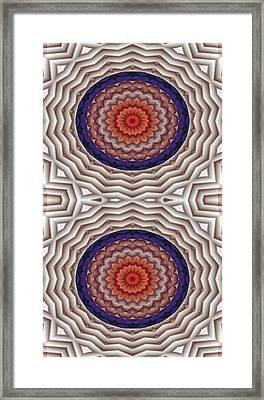 Mandala 10 For Iphone Double Framed Print by Terry Reynoldson