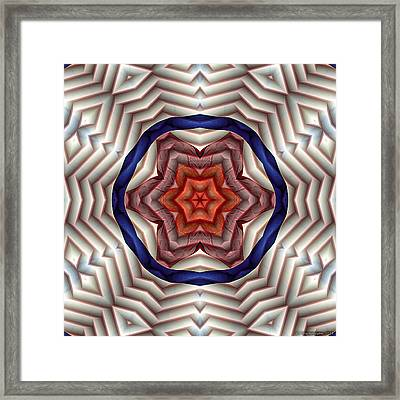 Mandala 12 Framed Print by Terry Reynoldson